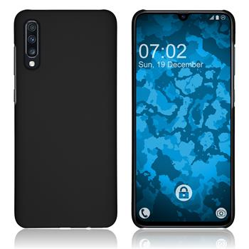 Hardcase Galaxy A70 rubberized black Cover