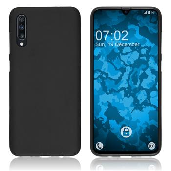 Silicone Case Galaxy A70 matt black Cover