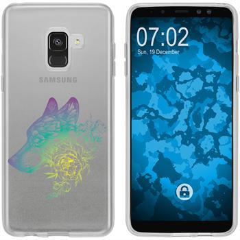 Samsung Galaxy A8 (2018) Plus Silikon-Hülle Floral  M3-4