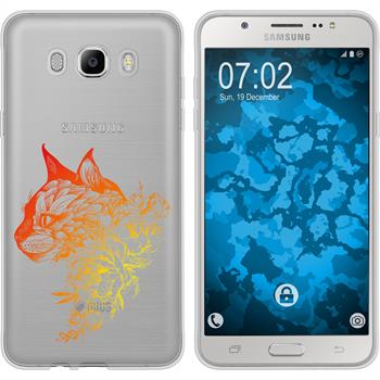 Samsung Galaxy J7 (2016) J710 Silikon-Hülle Floral  M2-2