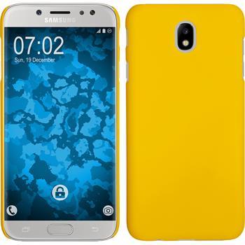 Hardcase Galaxy J7 Pro gummiert gelb Case