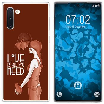 Samsung Galaxy Note 10 Silicone Case in Love M3