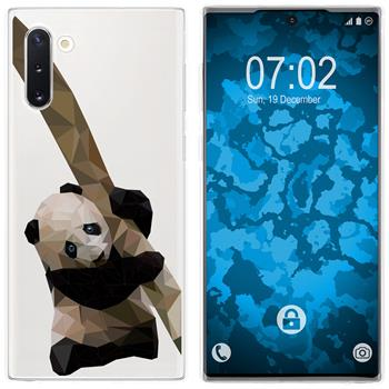 Samsung Galaxy Note 10 Silicone Case vector animals Panda M4