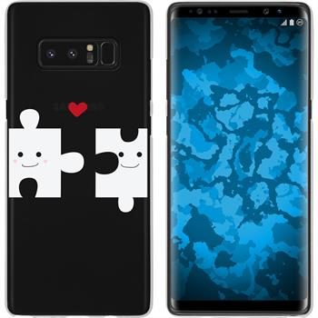 Samsung Galaxy Note 8 Silicone Case in Love M1