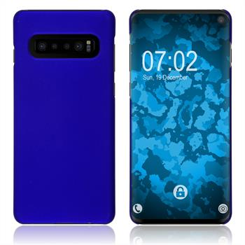 Hardcase Galaxy S10 rubberized blue Cover