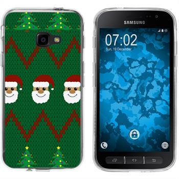 Samsung Galaxy Xcover 4 Silicone Case Christmas X Mas M7