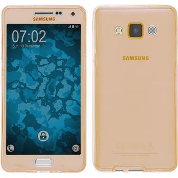 Silikon Hülle Galaxy A5 (A500) 360° Fullbody gold Case