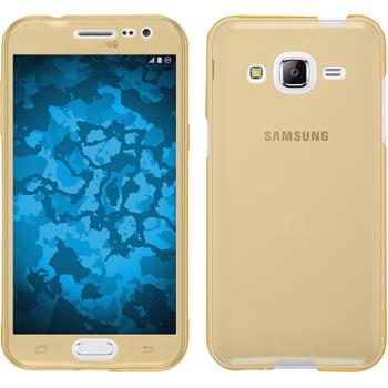 Silikon Hülle Galaxy J2 360° Fullbody gold