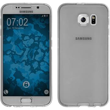 Silikon Hülle Galaxy S6 360° Fullbody grau Case