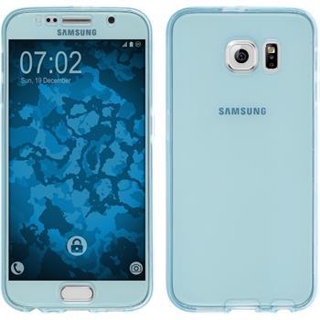 Silikon Hülle Galaxy S6 360° Fullbody hellblau