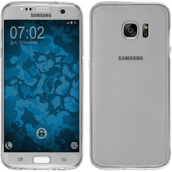 Silikon Hülle Galaxy S7 Edge 360° Fullbody grau Case