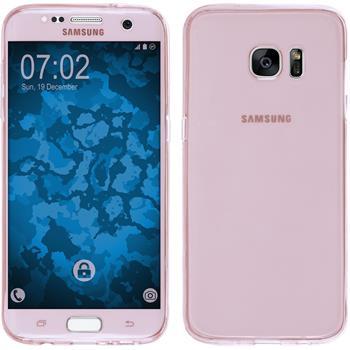 Silikon Hülle Galaxy S7 Edge 360° Fullbody rosa Case