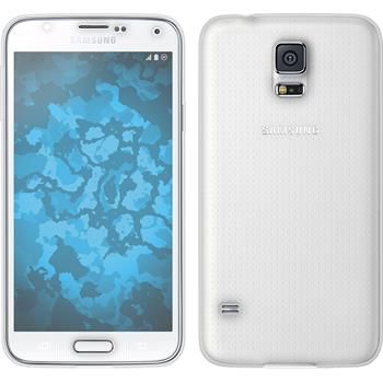 Silicone Case for Samsung Galaxy S5 360° Fullbody transparent