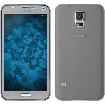 Silikon Hülle Galaxy S5 360° Fullbody grau