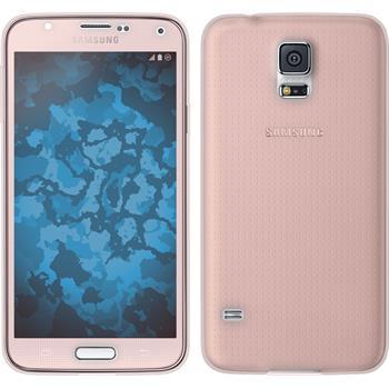 Silikon Hülle Galaxy S5 360° Fullbody rosa Case