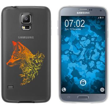 Samsung Galaxy S5 Neo Silikon-Hülle Floral  M1-2