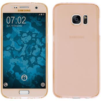 Silikon Hülle Galaxy S7 360° Fullbody gold