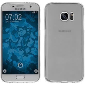 Silikon Hülle Galaxy S7 360° Fullbody grau Case