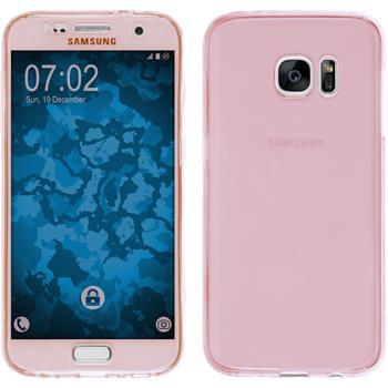 Silikon Hülle Galaxy S7 360° Fullbody rosa Case