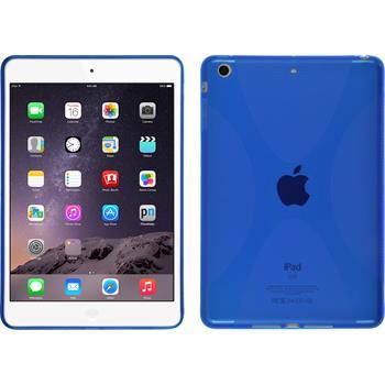 Silicone Case for Apple iPad Mini 3 2 1 X-Style blue
