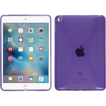 Silicone Case for Apple iPad Mini 4 X-Style purple