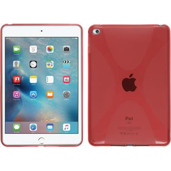 Silicone Case for Apple iPad Mini 4 X-Style red