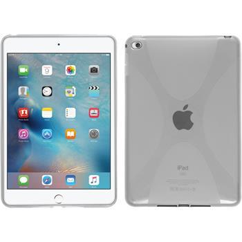 Silicone Case for Apple iPad Mini 4 X-Style transparent