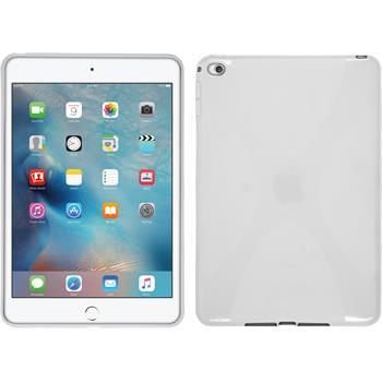 Silicone Case for Apple iPad Mini 4 X-Style white
