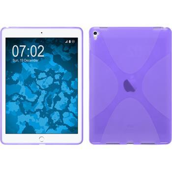 Silicone Case for Apple iPad Pro 9.7 X-Style purple