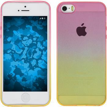 Silicone Case for Apple iPhone 5 / 5s Ombrè Design:01