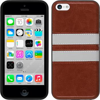 Silicone Case for Apple iPhone 5c Stripes brown