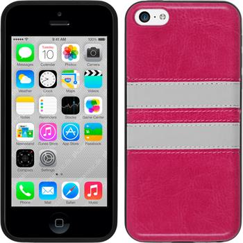 Silicone Case for Apple iPhone 5c Stripes hot pink