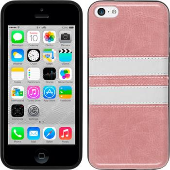 Silicone Case for Apple iPhone 5c Stripes pink
