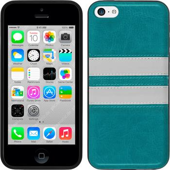 Silicone Case for Apple iPhone 5c Stripes turquoise