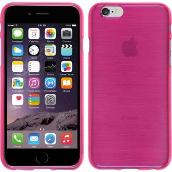 Silicone Case for Apple iPhone 6 brushed hot pink