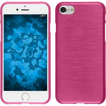 Silicone Case for Apple iPhone 7 brushed hot pink