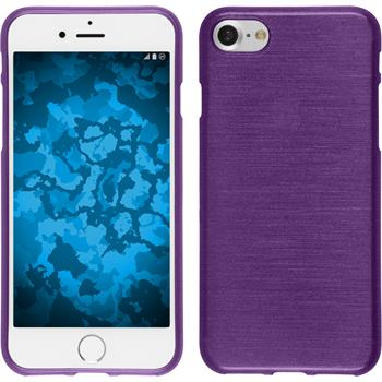 Silicone Case for Apple iPhone 7 brushed purple