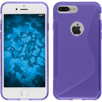 Silicone Case for Apple iPhone 7 Plus S-Style purple