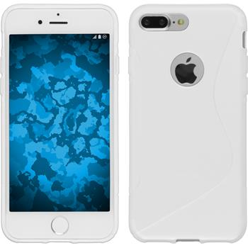 Silicone Case for Apple iPhone 7 Plus S-Style white