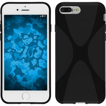 Silicone Case for Apple iPhone 7 Plus X-Style black