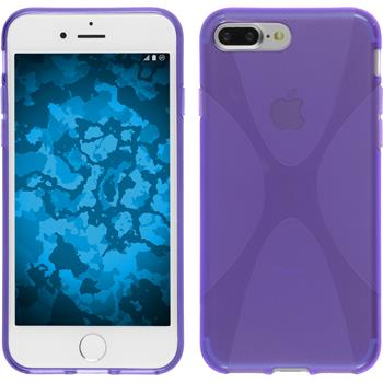 Silicone Case for Apple iPhone 7 Plus X-Style purple