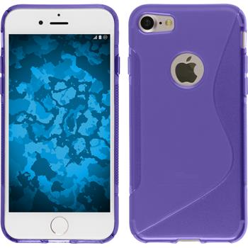 Silicone Case for Apple iPhone 7 S-Style purple