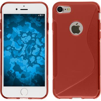 Silicone Case for Apple iPhone 7 S-Style red