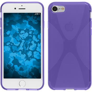 Silicone Case for Apple iPhone 7 X-Style purple