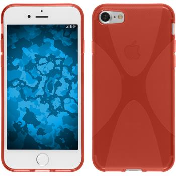 Silicone Case for Apple iPhone 7 X-Style red