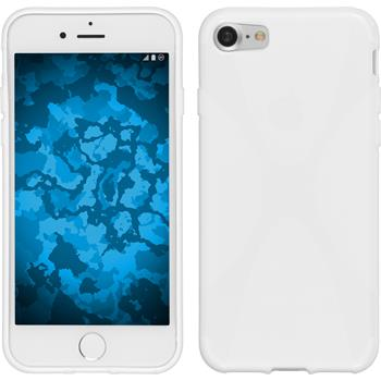 Silicone Case for Apple iPhone 7 X-Style white