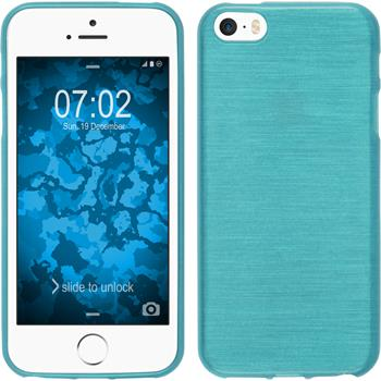Silicone Case for Apple iPhone SE brushed blue