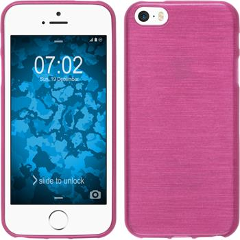 Silicone Case for Apple iPhone SE brushed hot pink