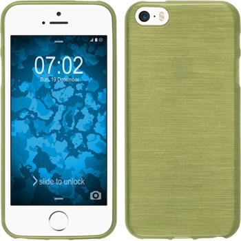 Silicone Case for Apple iPhone SE brushed pastel green
