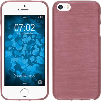 Silicone Case for Apple iPhone SE brushed pink